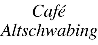 Cafe Altschwabing Speisekarte